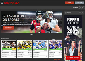 Bet on football with Bovada