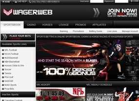 Bet on football with WagerWeb